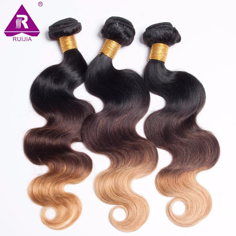 8A Grade Ombre Mongolian Body Wave Virgin Hair 3pcs Mongolian Ombre Hair Human Hair Weave Dark Brown 1B 4 27 Tissage Bresilienne (32)