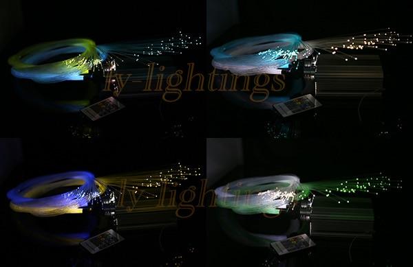 DIY fiber optic light kit RGB led light color change twinkle stars optical fiber ceiling light night light 25w dual output