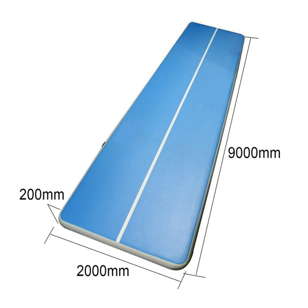 Inflatable Gym Mat Air Floor Tumbling Track Gymnastics Cheerleading Mat Trick Pad For Taekwondo Gym Sports With Electric Pump free shipping 6x1x0 2m cheap inflatable gymnastics tumbling mat air floor for home use beach park and water free one pump