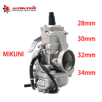 Alconstar MIKUNI TM28 TM30 TM32 TM34 Carburetor For Motorcycle 2T Stroke Racing Flat Slide Carb Pit Bike With Power Jet