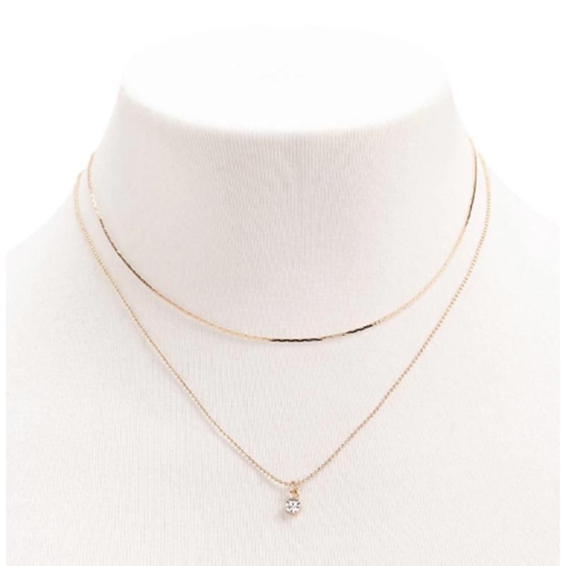 Europe and The United States Fashion  Level Pendant Necklace