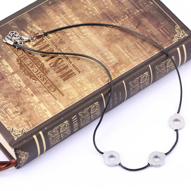 Аниме Учиха ожерелье из Итачи из титановой стали для костюмированной вечеринки 3 петли женское ожерелье Чокер-колье подарок в этническом ст...