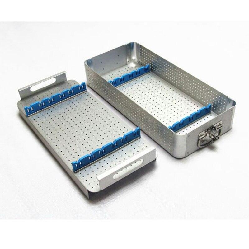 Endoscopic laparoscopic instrument sterilization box High temperature medical equipment storage box
