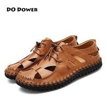 Fazer o Dote de 2017 Novo Estilo Sapatos de Couro Dos Homens De Verão Ao Ar Livre