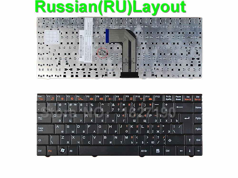 New RU Russian Keyboard for ECS MB40 BLACK RU Laptop Keyboards MP-09P86SU-3602 new laptop keyboard for dns 0155814 0155827 ru russian black as photo