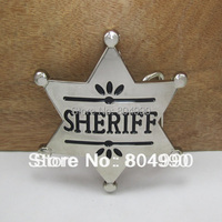 Sheriff belt buckle with pewter finish FP-03185 suitable for 4cm wideth belt with continous stock