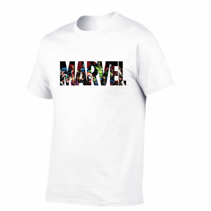 New Fashion MARVEL t-Shirt men cotton short sleeves 100% Casual male tshirt marvel t shirts men tops tees Free shipping