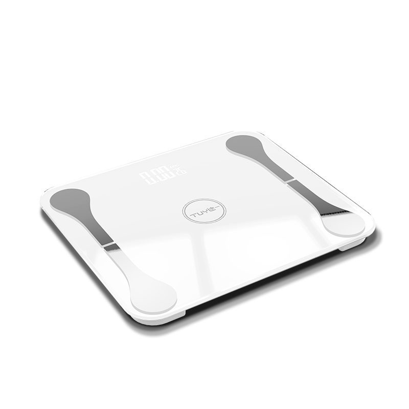 цена на APP Bluetooth smart weight scale body fat scale men and women to lose weight fat visceral fat musculoskeletal test health scale