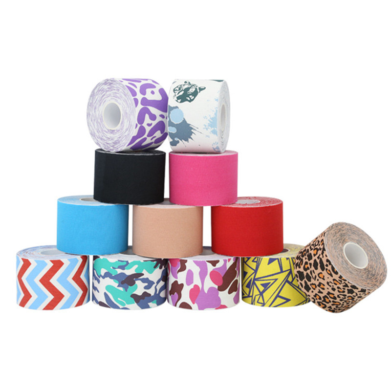 Cotton Elastic Muscle Tape Joints Pain Relief Kinesiology Self-adhesive Bandage Sticker Gym Fitness