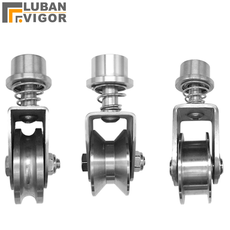 Factory outlets,304 stainless steel Spring fixed /Track/Lifting pulley/Wire rope pulley,stable,durable,Industrial Hardware
