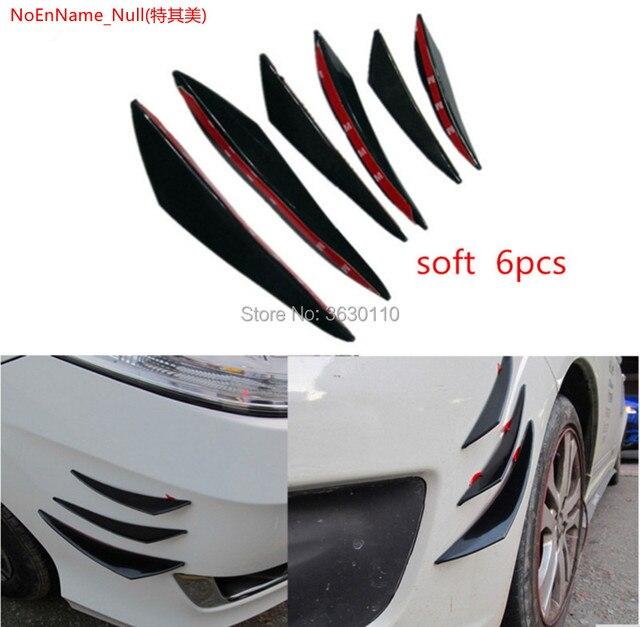 US $13 66  Renault Megane 2 3 1 ii iii 6 Pieces Car Body Front Bumper Lip  Splitter Spoiler Kits black/ carbon fiber -in Bumpers from Automobiles &
