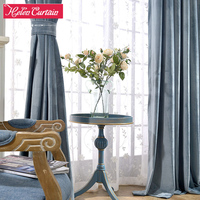 New Arrive Modern Solid Velvet Blackout Curtains For Living Room Hotel And Bedroom Curtain Embroidered White Sheer Curtain Voile