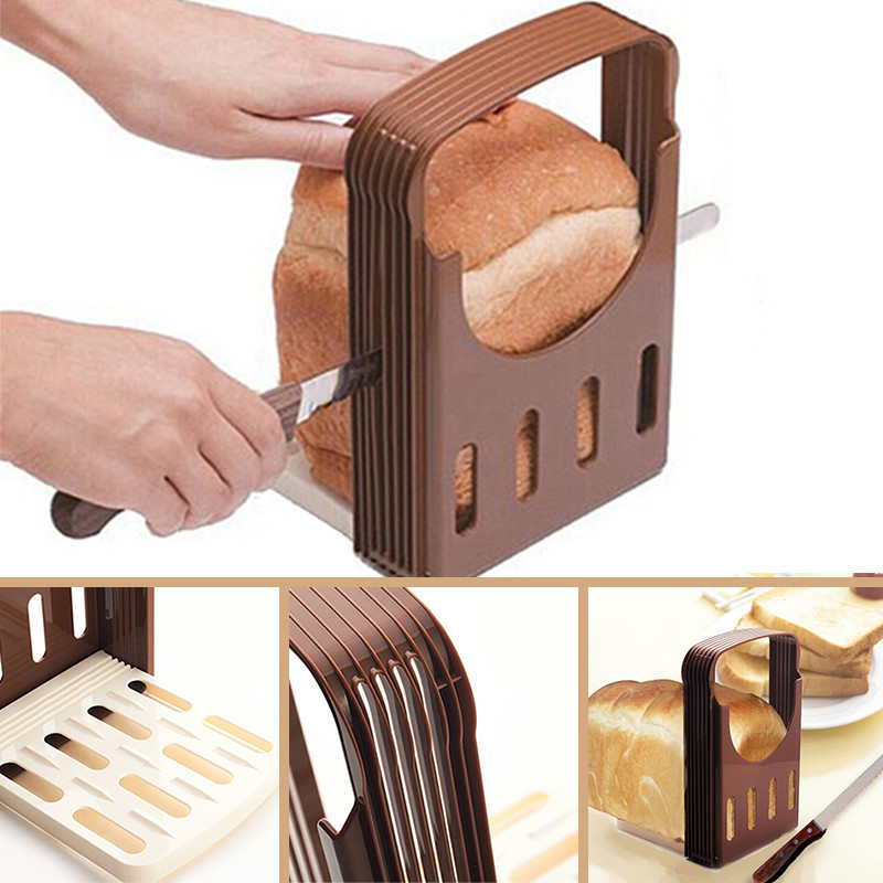 Practical Bread Cutter Loaf Toast Slicer Cutting Slicing Guide Kitchen Tool