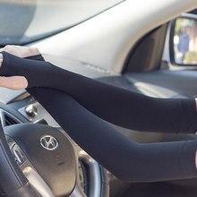 Été longs gants soleil Protection UV main protéger couverture glace soie crème solaire manches bras extérieur bras plus chaud demi doigt manches