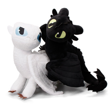 Set of 2 Night Fury Toothless Light Fury 23-55cm How to Trai