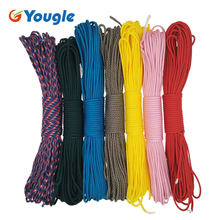 YOUGLE Paracord 550 100FT Paracord Rope Mil Spec Type III 7Strands Paracorde 550 Survival Kit Equipment Wholesale 18-24