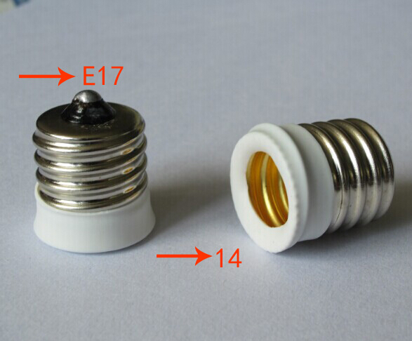 E17 To e14 Lamp Holder Converter For Light Bulb ROHS Compliance