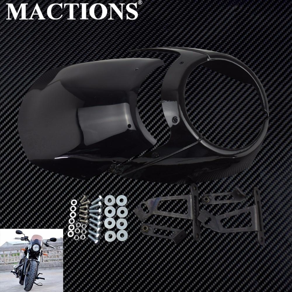 Motorcycle Front Headlight Fairing Cowl Head Light Headlamp Visor Mask Hardware Kit For Victory Octane 2017