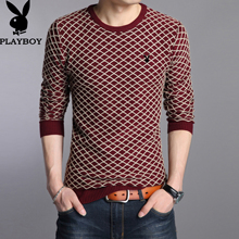 The winter men's sweater sweater slim thickening Korean youth Crewneck Pullover casual shirt