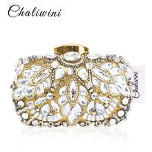 Evening Clutch Bags Evening Bag Factory Rhinestone for Evening Luxury Crystal Women Clutch New Crystal Women luxury crystal women clutch womens flower crystal designer clutch bags 12 colors available yls f08