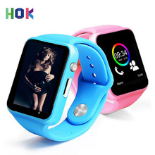 HOK WristWatch A1 Bluetooth Smart Watch Android SIM Camera For Android Iphone IOS Kids Women Smartwatch Support Multi languages