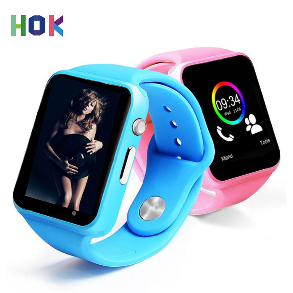 imágenes para HOK Reloj A1 Bluetooth Reloj Inteligente Android SIM Cámara Para Android Iphone IOS Niños Mujeres Smartwatch Soporte Multi idiomas