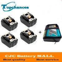 Высокое качество 4 шт. Новый 3000 мАч 18 Вольт Li Ion Мощность инструмент Батарея для Makita BL1830 Bl1815 194230 4 LXT400 + Зарядное устройство
