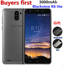 "Оригинал Blackview R6 Lite Dual сзади Cam 3 г смартфон 5.5 ""QHD MTK6580 Quad Core Android 7.0 Оперативная память 1 ГБ Встроенная память 16 ГБ 8MP мобильного телефона"