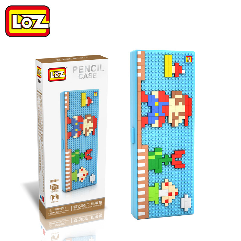 LOZ Super Mario Kids Pencil Case Building Blocks Building Bricks Toys School utensil brinquedos juguetes menino Jouet enfant loz gas station diy building bricks blocks toy educational kids gift toy brinquedos juguetes menino