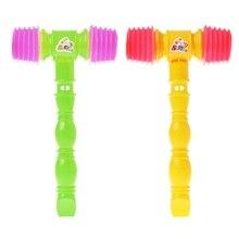 25cm Child Training Toddler Kids Handle Plastic Hammer Whistle Toys Noise Maker