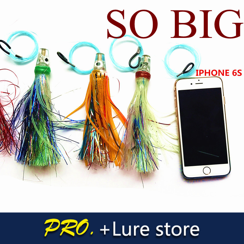 16cm Big tuna fishing squid baits , saltwater fishing trolling lure baits , big hook skirt octopus baits lure sea big lure baits dynamite baits xl pineapple