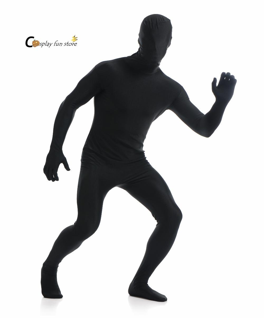 2018 Adult Full Body Spandex Lycra Zentai Suit Black Tight ...