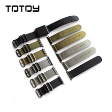 Classic Mens Nylon Watchbands, 38MM / 42MM Soft Anti-Sweat Strap, For Smart Watch Fast Delivery