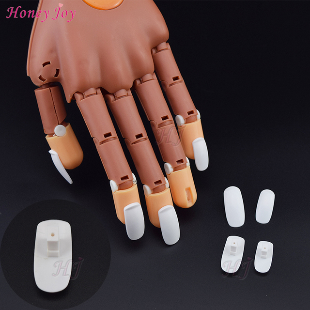 100pcs/Lot Refill Replace False Finger Tips For Flexible Training ...