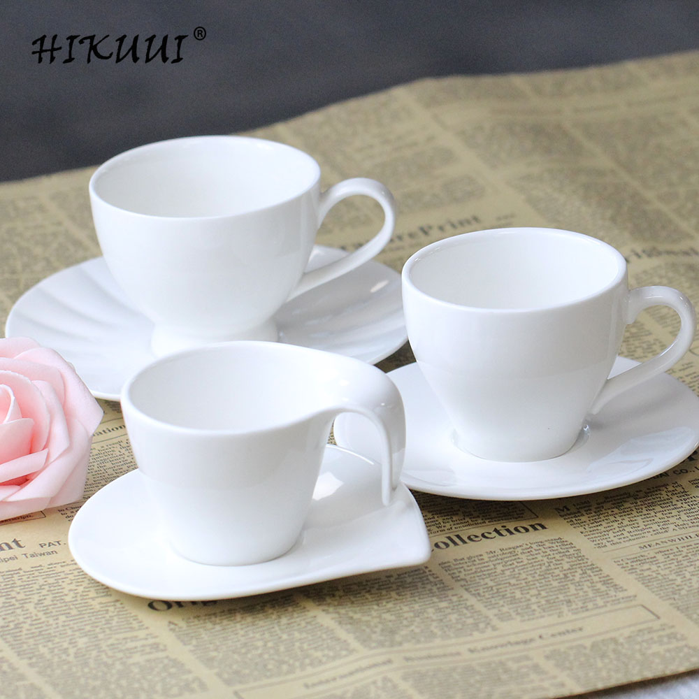Coffee Cup Saucers Pure White