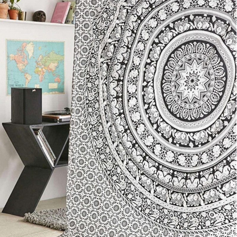 b75a830f61 Wall Tapestry Elephant Printed Bohemian Rectangular Tapestry Wall Hanging  Mandala Bedspread Shawl Ethnic Art EJ879787-in Tapestry from Home & Garden  on ...