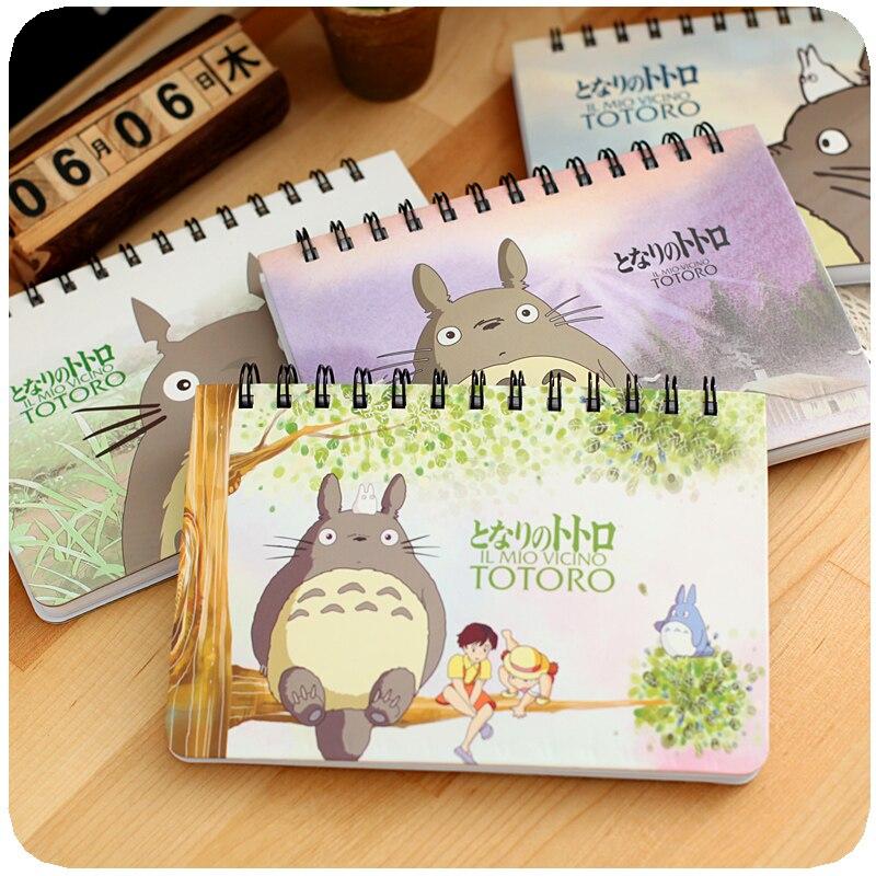 Hot Sale Japan Kawaii Totoro Weekly Planner Cute Planners Spiral Notebook Planner Diary Notepad Panda School Supplie Agenda 2016