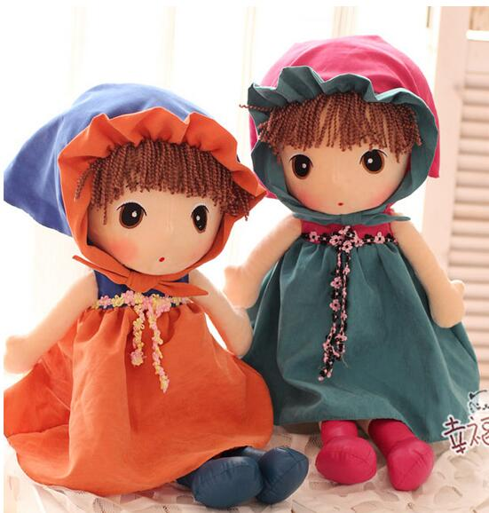 Floor price 80cm Cute fairy little girl plush toys 6 kinds dolls free shopping 1PCS