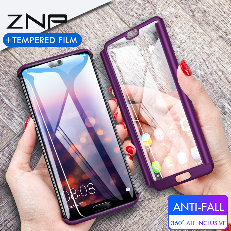 ZNP <font><b>360</b></font> Full Cover Phone <font><b>Case</b></font> For <font><b>Huawei</b></font> <font><b>Y6</b></font> Y5 y7 <font><b>2018</b></font> <font><b>Case</b></font> For <font><b>Huawei</b></font> Y7 <font><b>Y6</b></font> Prime Protective <font><b>Case</b></font> Y5 Y7 2017 Shell With Glass image