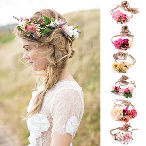 Women Girl Flower Floral Hairband Headband Wreath Wedding