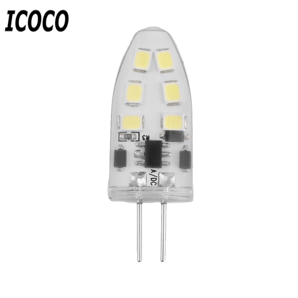 ICOCO <font><b>G4</b></font> Mini Dimmable <font><b>LED</b></font> Lamp with 12 <font><b>LEDs</b></font> COB <font><b>9W</b></font> SMD 2835 AC/DC <font><b>12V</b></font> Light 360 Beam Angle Chandelier Replace Halogen Lamps image