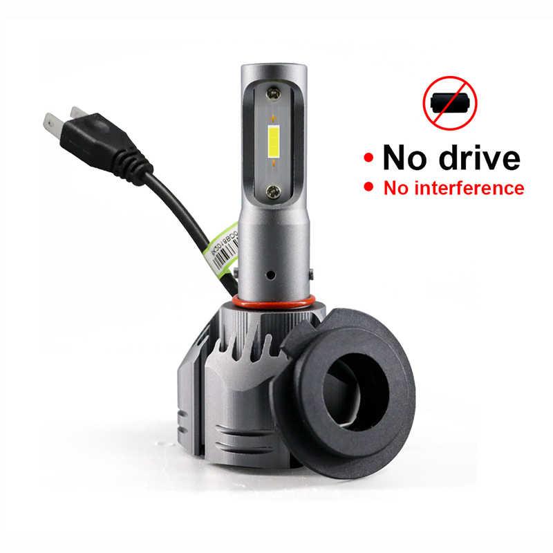 HLXG Car Headlights H1 H11 H4 H7 LED Bulbs 8000LM 72W 6500K Hi/Lo Beam CSP Chips Auto Lamp H8 H9 HB3/9005 HB4/9006 Light