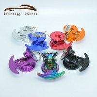 HB New Arrival Universal Aluminum Steering Wheel Quick Release Hub Adapter Removable Snap Off Boss Kit