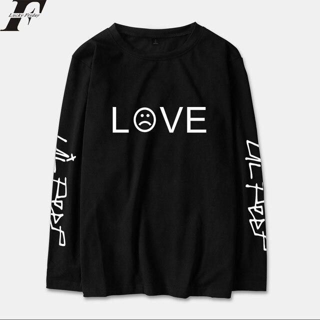 Luckyfridayf 2018 Лил открытым RIP. Футболка с длинным рукавом Для мужчин/Для женщин хлопка Весенняя мода Повседневное уличной хип-хоп длинная футболка Топ