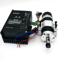 High speed air cooled spindle kit 600W CNC brushless Spindle motor CNC Engraving Machine ER11 220VAC Driver