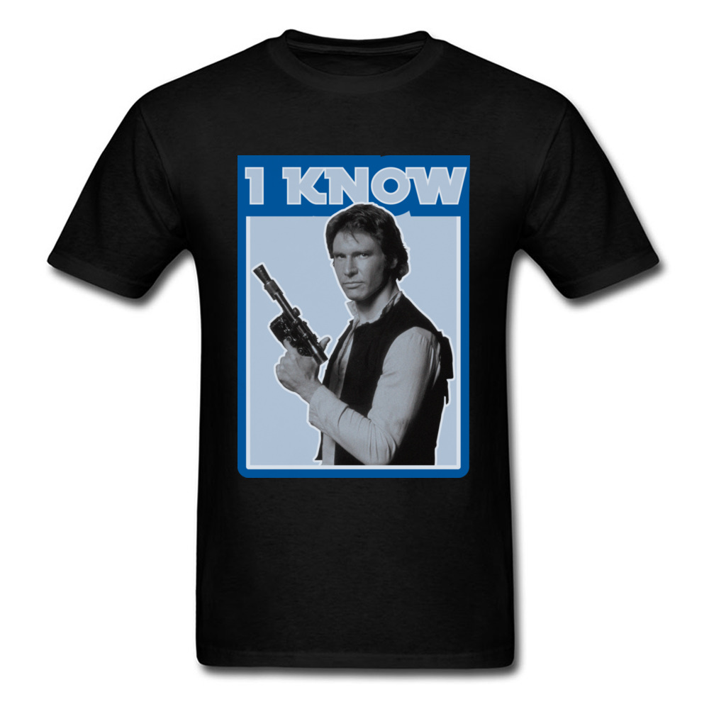 Star Wars Han Solo Retro I Know T-shirts New Coming Men's T Shirt  Thanksgiving Day Tops Tees Casual Tops Crew Neck Pure Cotton