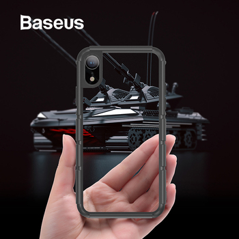 Baseus For iPhone XR Case Durable Silicone PC Hybrid Armor Case For iPhonoe XR 6.1 2018 Full Protective Back Phone Cover Coque iPhone XR