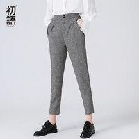Toyouth Women Harem Pants 2018 New Plaid Ankle Length Pants High Waist Trousers Spring Casual Pantalon Plus Size XS~3XL