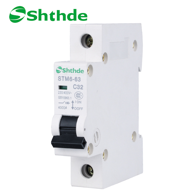 Captivating Shthde Household Mini Circuit Breaker 1P 32A MCB Switch Tianhui Electric  STM6 63
