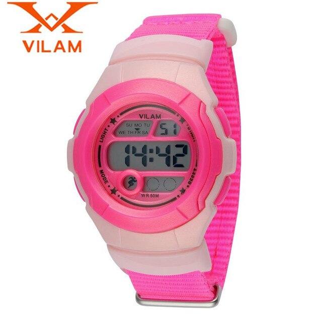 VILAM Casual Children Alarm Date Day Quartz Watches Wristwatch  Gift Free Ship